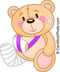 godt, teddy, få, bjørn