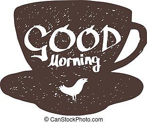 goede morgen, meldingsbord