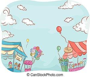 goederen, carnaval, winkel