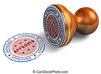 goedgekeurd, postzegel