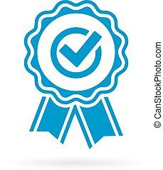 goedkeuring, certificaat, borg staan voor