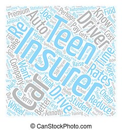 goedkoop, auto verzekering, voor, jouw, tiener, of,...