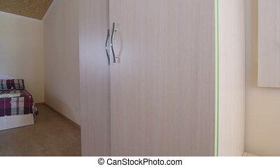 Badkamer, grit, kamer, hotel, goedkoop, begroting, drie,... stock ...