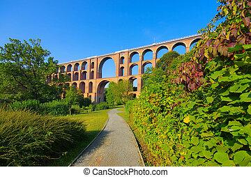 Goeltzsch Viaduct railway bridge in Germany
