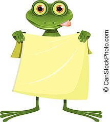 Goggle-eyed Frog with a Yellow Towel