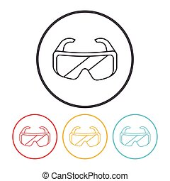 Goggle line icon