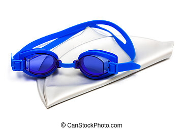 goggles and cap for swimming