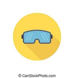 goggles  flat color icon