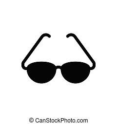 goggles  glyph flat icon