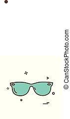 Goggles icon design vector