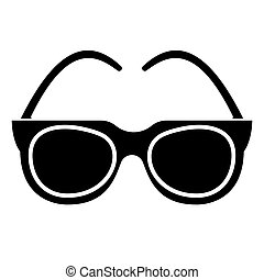goggles - sunglasses icon, vector illustration, black sign on isolated background