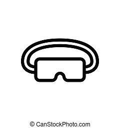 goggles thin line icon