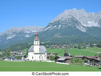 Going am Wilden Kaiser,Austria - Village of Going am Wilden...