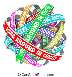 Going Around in Circles Words on Circle Ribbons - The words ...