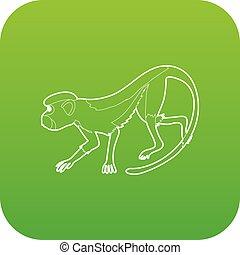 Going forward monkey icon green vector
