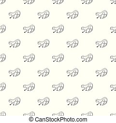 Going forward monkey pattern vector seamless