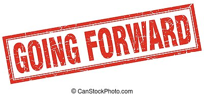 going forward square stamp