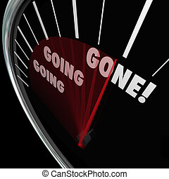 Going Going Gone Speedometer Fast Quick Action Bidding...