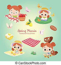 Going Picnic in The Summer