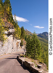 Going to the Sun road in Glacier National Park Montana
