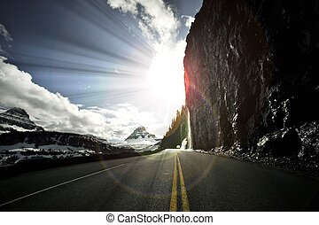 Going-to-the-Sun Road, Glacier National Park. One of the...