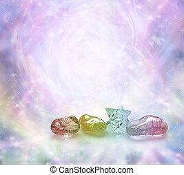 gojenie, kryształy, kosmiczny