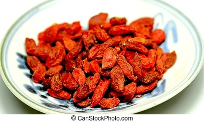 Goji berries and reishi mushroom, traditional chinese...
