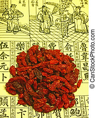 Goji-berries,Lycium barbarum,wolfberry