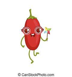 Goji Berry Girly Cartoon Character