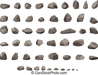 gokken, meer, laag, poly, rotsen