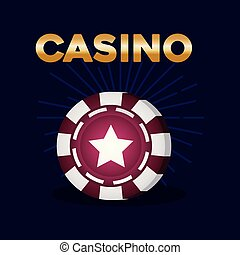 gokken, symbool, casino, poker stukje