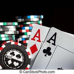 gokkende spaanders, en, azen