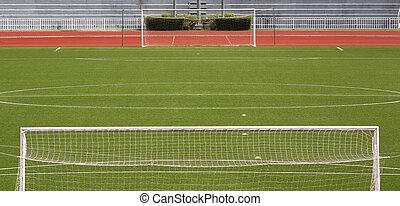 gol, futebol, vazio, campo