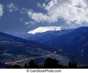 Golan Heights and Mount Hermon. Nothern Israel