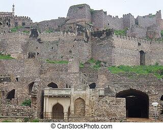 Golconda Fort in Hyderabad, India