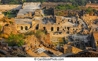 Golconda fort near Hyderabad faces threat from land marauders encroachment.