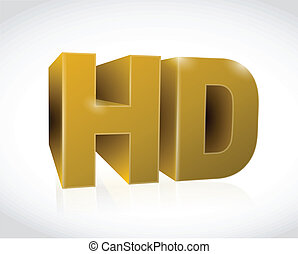 gold 3d hd text illustration design