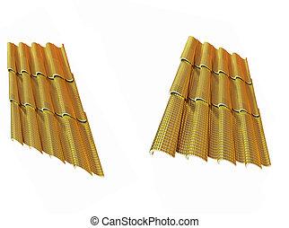 Gold 3d roof tiles