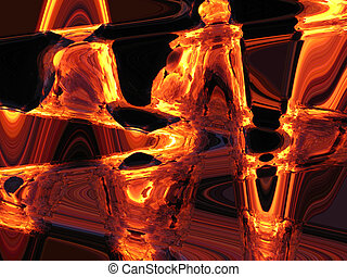 Gold abstract background - The image of a gold and yellow...
