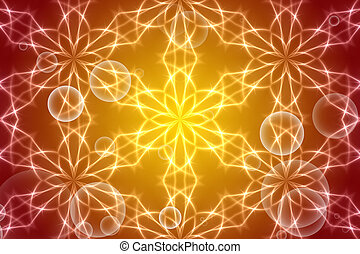 gold abstract background, kaleidoscope light