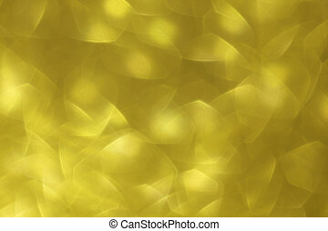Gold abstract background with a bokeh effect
