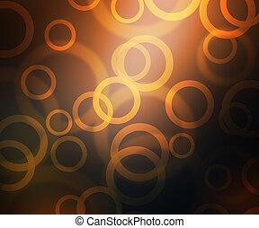 Gold Abstract Circles Bokeh