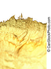 Gold Abstract hand painted golden stain background with...