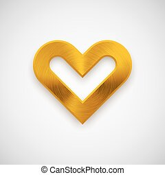 Gold Abstract Heart Sign