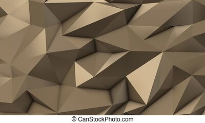 Gold abstract low poly triangle field 4k