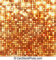 Gold abstract sparkling background with circles