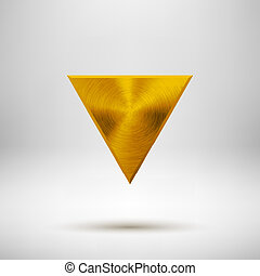 Gold Abstract Triangle Button Template - Gold abstract...
