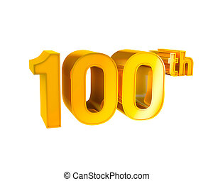 Gold Alphabet Anniversary. 100 - 3D Gold Character...
