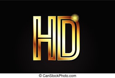 Hd logo letter design vector hd logo letter design vector with gold alphabet letter hd h d logo combination icon design thecheapjerseys Images