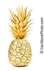gold, ananas